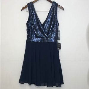 Lulus Dress Sequin Top New With Tags Navy Medium